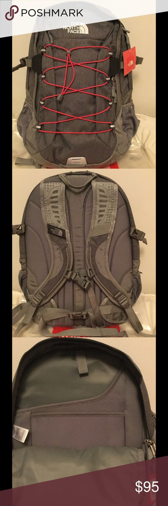 NEW The North Face Women's Borealis Backpack Brand new Women's Borealis backpack in Zinc grey Heather color, contains laptop and tablet sleeves, with additional compartments in a separate pocket.  Price is firm. No trade. The North Face Bags Backpacks