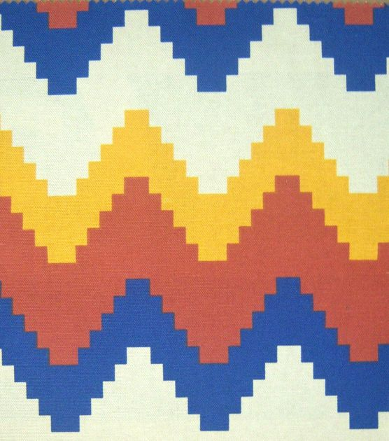 Southwest Fabric- Large Digital Chevron Home Decor
