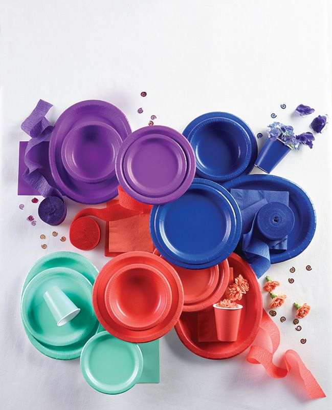 Colorful Tableware! A Touch of Every Color & 403 best Tableware - Disposable images on Pinterest | Birthdays ...