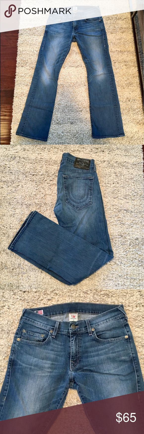 True Religion Section Danny Straight Cut Jeans Gently worn True Religion section danny, straight cut,  blue jean. True Religion Jeans Straight