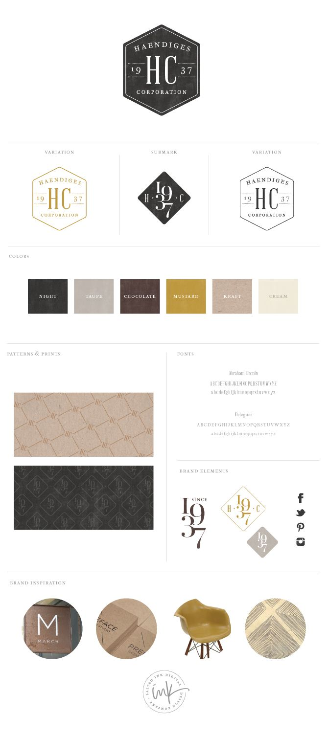 Brand Style Board for Haendiges Corp via Salted Ink