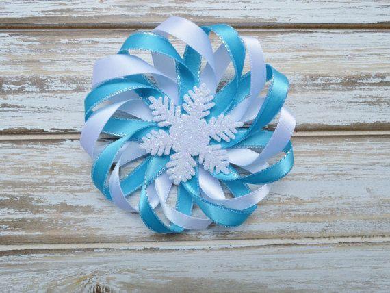 Haarschleife Haarspange Schneeflocke Winter von ALoveAtelier