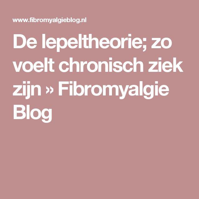 De lepeltheorie; zo voelt chronisch ziek zijn » Fibromyalgie Blog