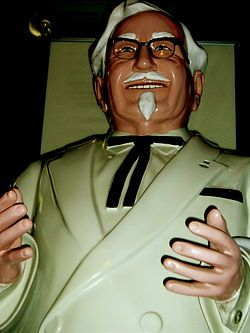 Curse of the Colonel (カーネルサンダースの呪い Kāneru Sandāsu no Noroi?) refers to an urban legend regarding a reputed curse placed on the Japanese Kansai-based Hanshin Tigers baseball team by deceased KFC founder and mascot Colonel Harland Sanders. The curse was said to be placed on the team because of the Colonel's anger over treatment of one of his store-front statues.