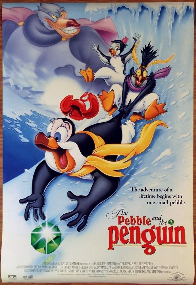 The Pebble and the Penguin Movie Poster DS 27 x 40 New Mint Don Bluth Animation  | eBay