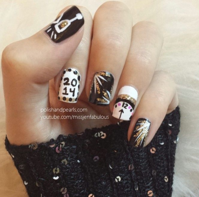 9 best new years eve nail art images on pinterest christmas nails new year 2014 google search prinsesfo Images