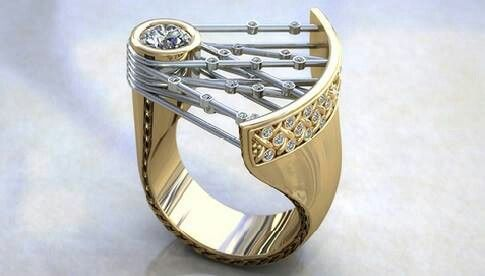 18k gold diamond ring...
