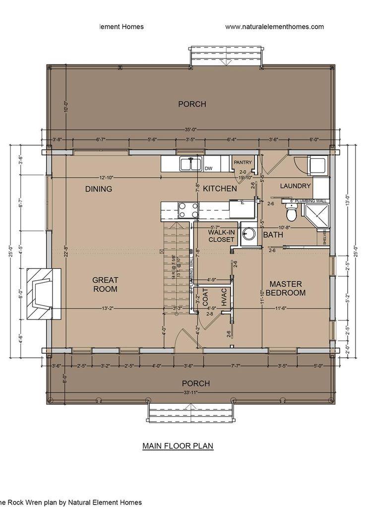 Rock Wren Main Floor 1373 Sq Ft 34 X 25 2 Bed 2 Bath Log