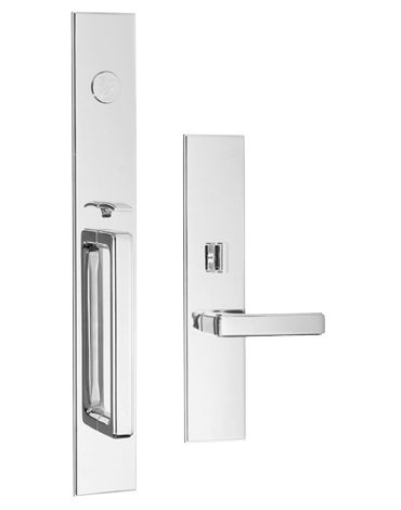 Classic Brass Entrance Handle Set - IN MATTE BLACK - FRONT DOOR