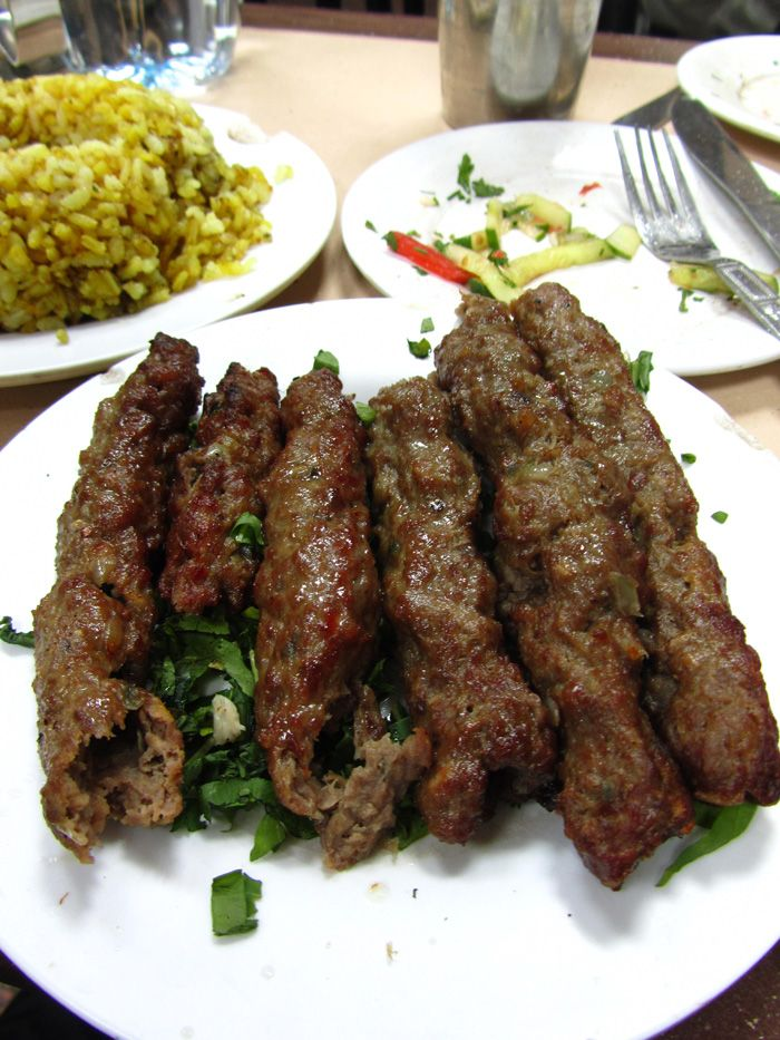 Kofta Kebabs. You will taste these on a FOOD TOUR from Viator. Get the facts at:http://www.allaboutcuisines.com/food-tours/egypt/in/egypt #Egyptian Food #Travel Egypt #Food Tours Egypt
