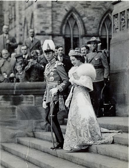 1939: King George VI and the Queen Mum in Ottawa, Canada.