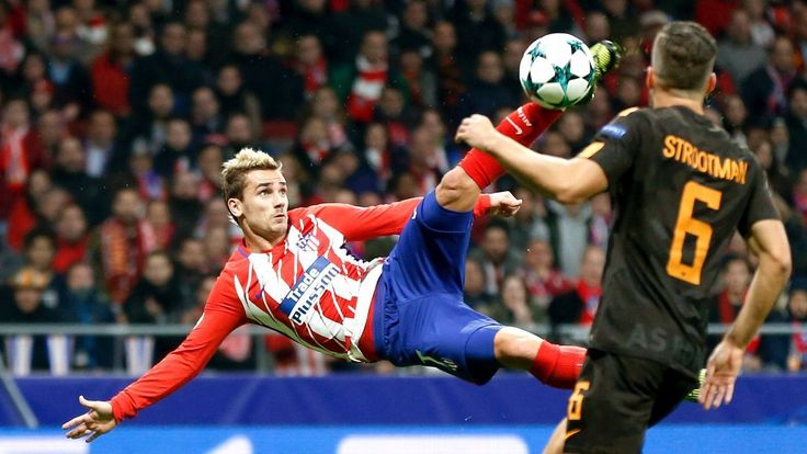 Griezmann's bicycle kick highlights Atletico's dominant win over Roma