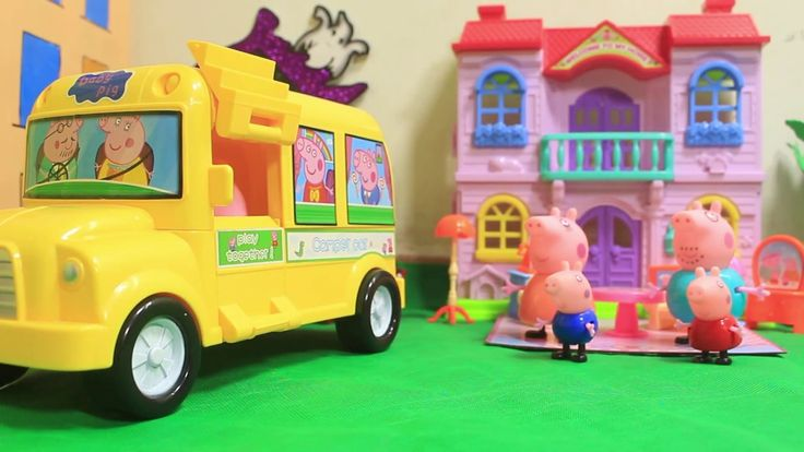 [Toy City] Peppa Pig Toys Sing Wheels on the Bus Kids Songs go to Childr...