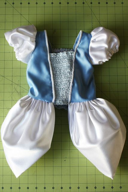 Cinderella Princess Dress - Costume Pattern and Tutorial - Homemade Toast - (Good reference on sewing bodice/hip puffs)