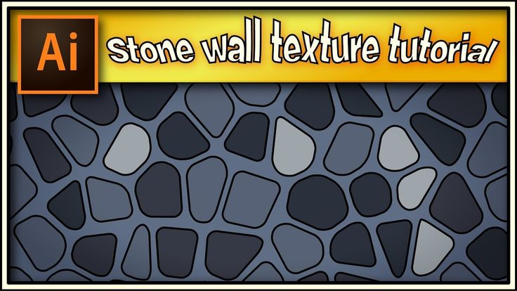 Stone wall texture very quick - Adobe Illustrator tutorial.