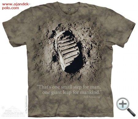 Holdcipő nyom a Holdon The Mountain póló.