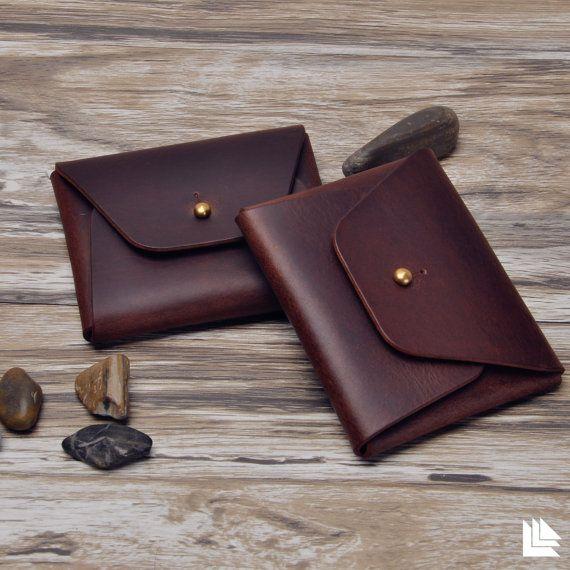 Leather Card Holder Case Wallet Men's Leather Wallets by LeLeons