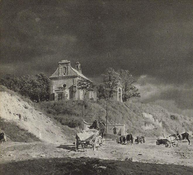 Kościół św. Mikołaja i Wzgórze Czwartek w roku 1964 r.