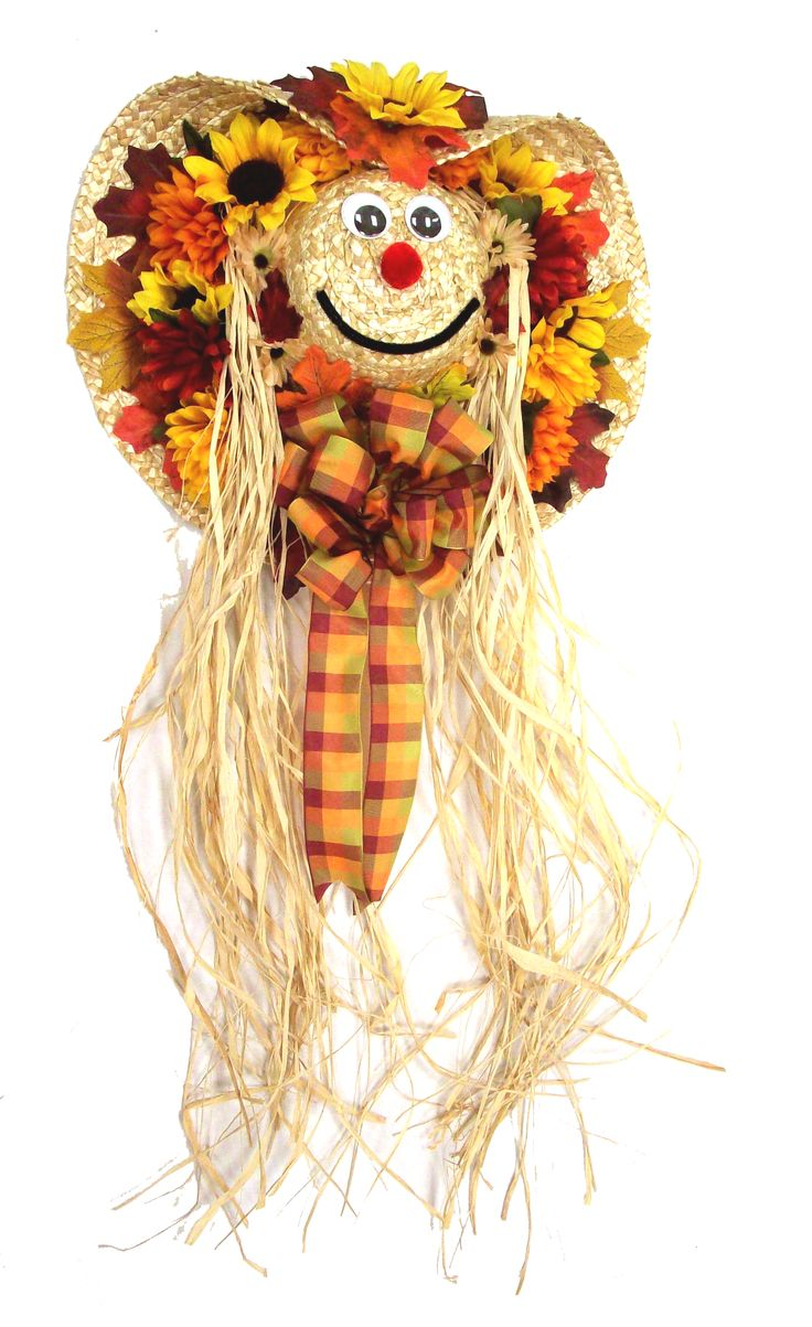 Scarecrow Boy designed by Karen B., A.C. Moore Erie, PA #wreath #fall