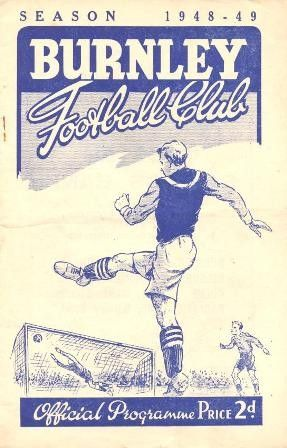 Burnley v Bolton Wanderers official programme 27/11/1948