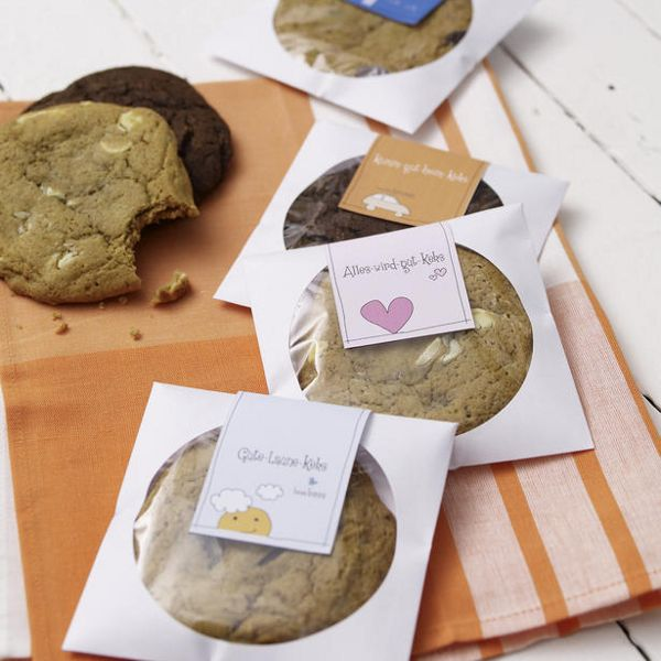 Mitbringsel: Cookies in CD-Hüllen