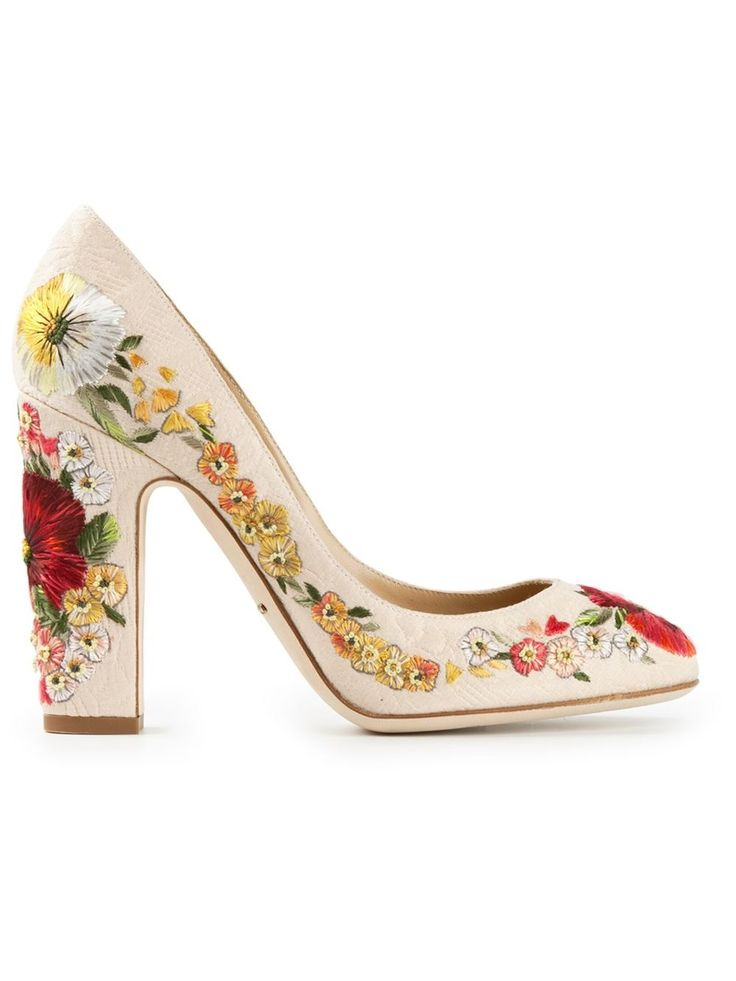 DOLCE & GABBANA embroidered pumps