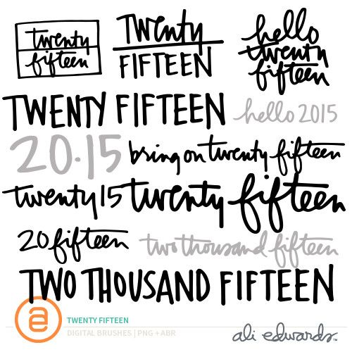Twenty Fifteen at Ali Edwards