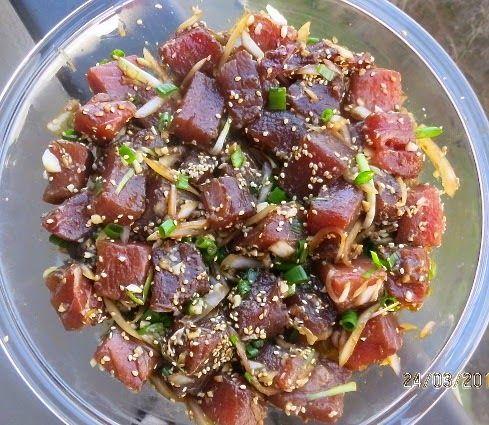 """Гавайский салат """"поке"""" из тунца"""