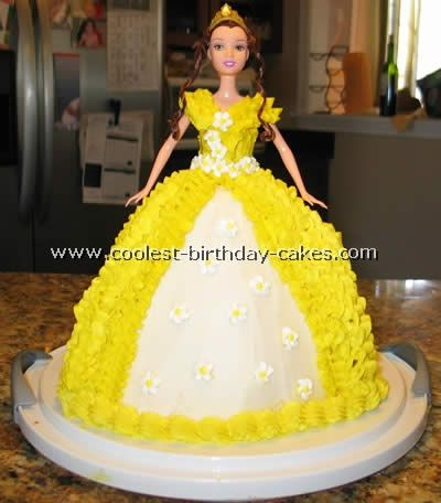 Beauty and the Beast Birthday Cake... This website is the Pinterest of princess cake ideas