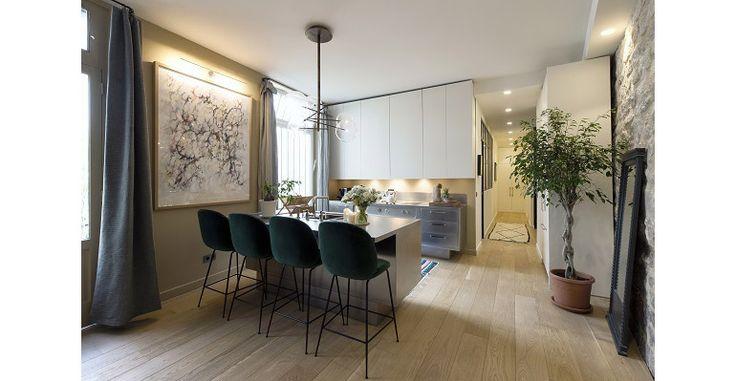 Thuis in een droomappartement in Parijs