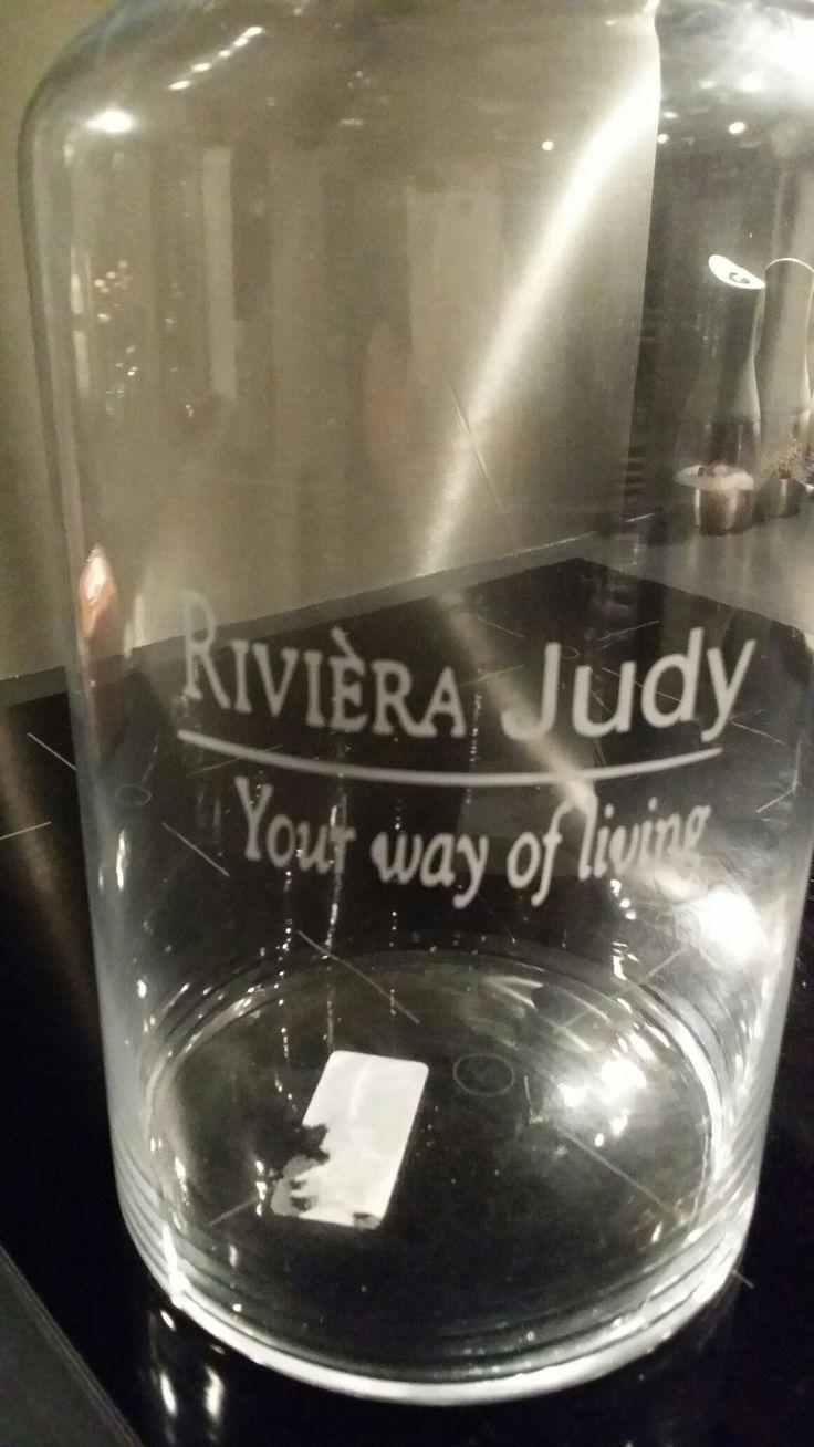 Glas etsen op een vaas..een persoonlijk cadeau