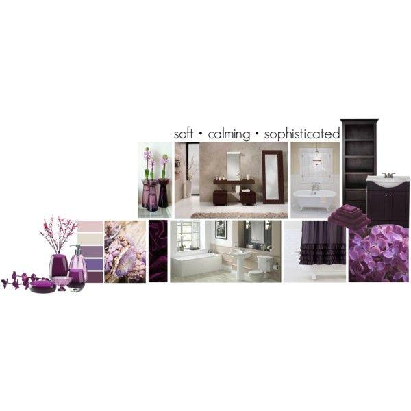 Purple Bathroom Inspiration, created by #noelleinashell on #polyvore