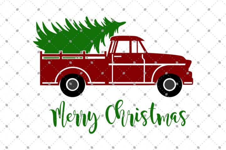 Christmas Tree Delivery Truck SVG Files By SVG Cut Studio