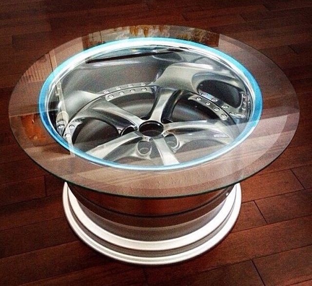 850 best home automotive furniture deco images on for Car part coffee table