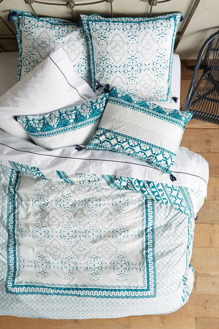 Enmore Embroidered Duvet - anthropologie.com
