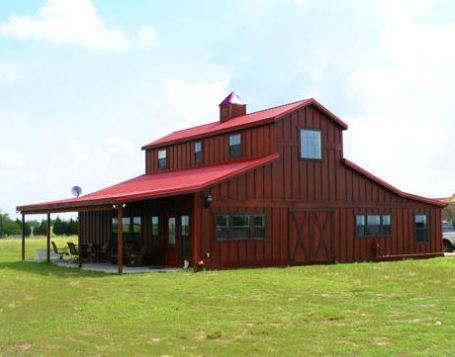 258 best metal building home images on pinterest dream for Wood barn homes