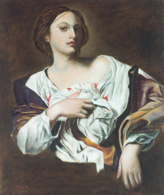S. Agata (da Guarino, 1999) - Olio su tela