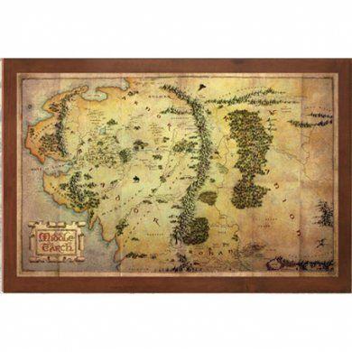 Nástěnný obraz - mapa Středozemě