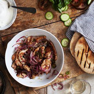 Curried Chicken on Pita   Favorite Recipes   Pinterest