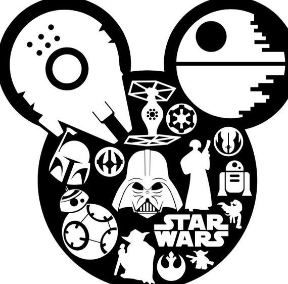 Download Star War Mouse Ears SVG file | Book folding patterns, Star ...