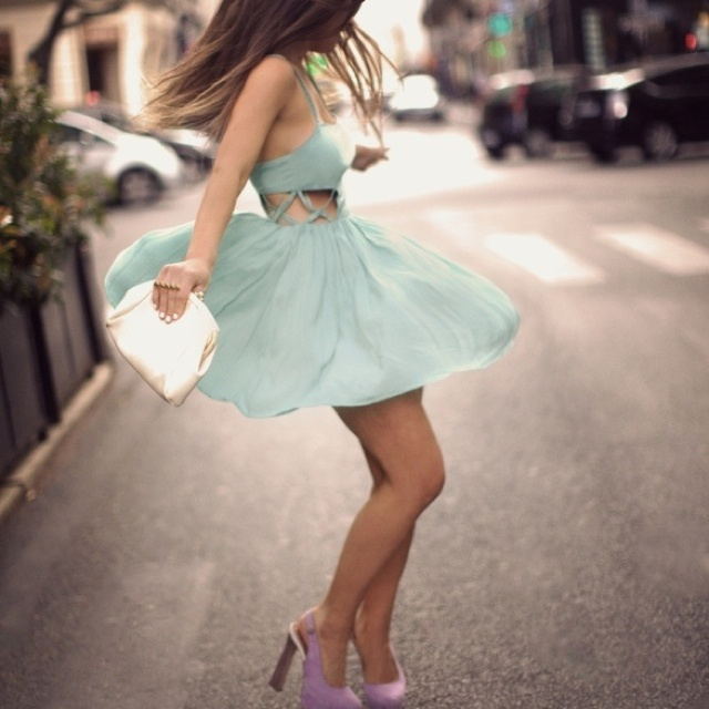Love this outfitBaby Blue, Colors Combos, Cutout, Fashion, Style, Green Dress, Dresses Sho, The Dresses, Cut Out