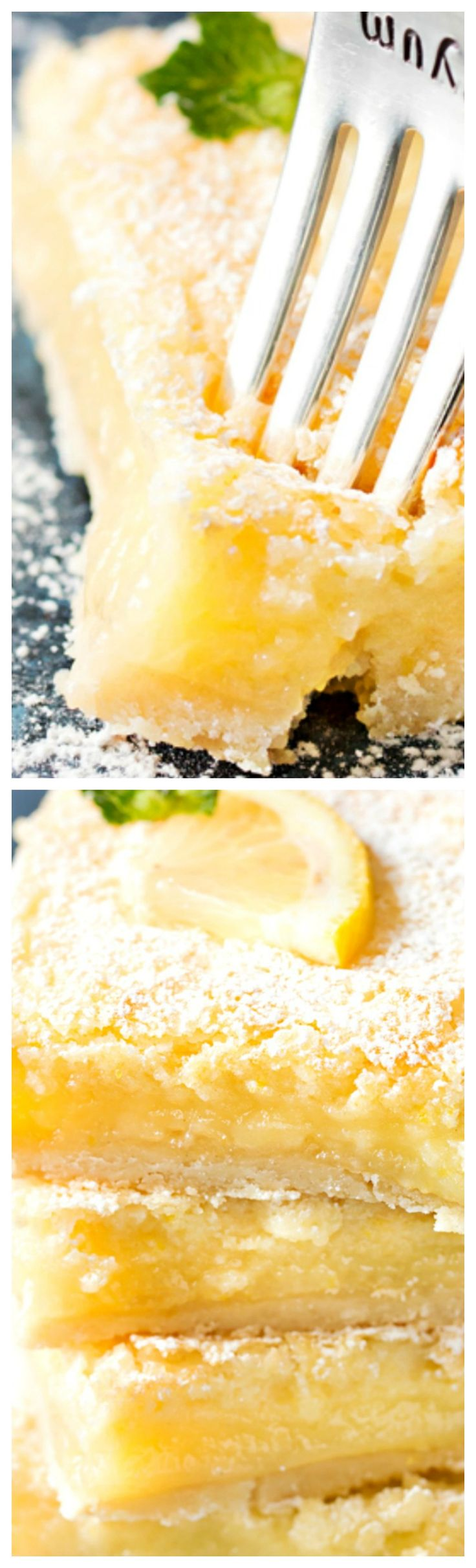 Best Buttermilk Lemon Squares ~ Made 100% from scratch, they feature a buttery shortbread crust, thick, creamy, lemon filling, and are easy for anyone to make!