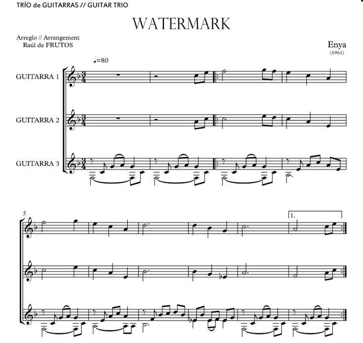 http://www.guitarraul.com/p/196/watermark-enya Watermark (ENYA) _ GUITAR TRIO