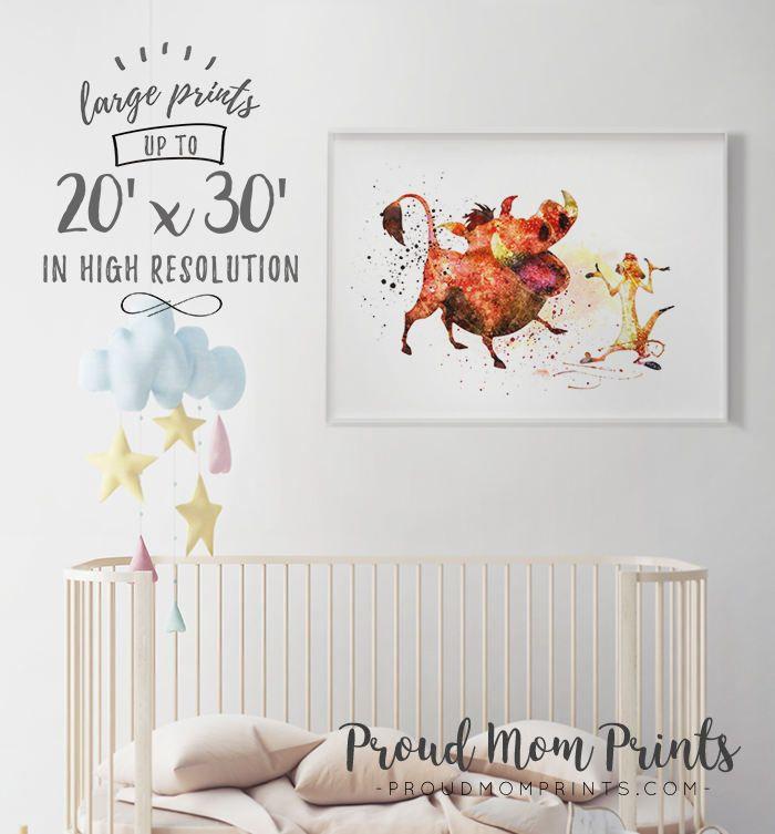 Timon And Pumbaa, Timon Pumbaa Art, Timon Pumbaa Nursery, Timon Pumbaa Poster, Lion King Birthday