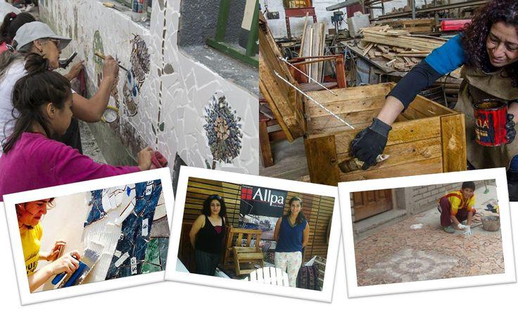 Muebles con Pallets // Mosaiquismo y Muralismo