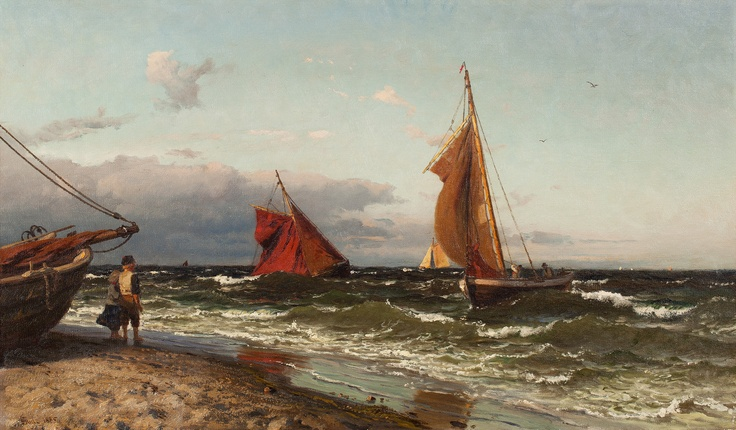 Hans Gude (1825-1903): By the Coast, 1885