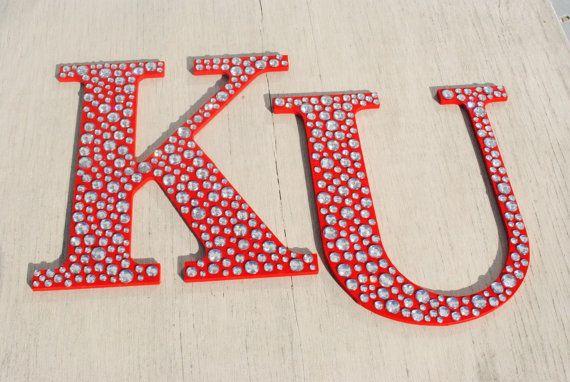 University of Kansas Sparkle KU Bling by LettersFromAtoZ on Etsy, $22.00