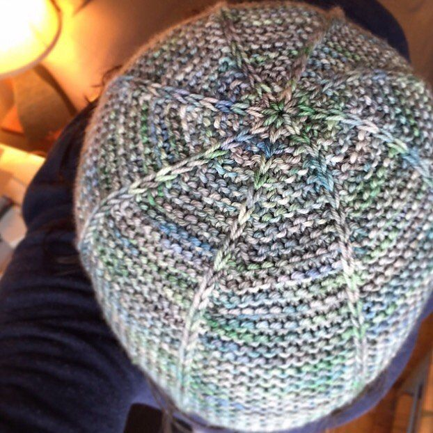 The Galactic Hat is 30% off with the code quickgift! Get it here: http://ift.tt/1Y08xDD  This is a super speedy gift knit for anyone on your list as it is unisex and sized from newborn to adult large. Use a full skein of worsted weight yarn or scraps from your stash for the two-colour version to knit this pattern.  #juliannasfibre #galactichat