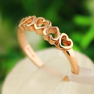 fashion hollow heart golden ring,fashion jewelry lowest price shop at Gofavor.us