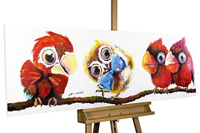 kunstloft® acryl gemälde 'im mittelpunkt' 150x50cm